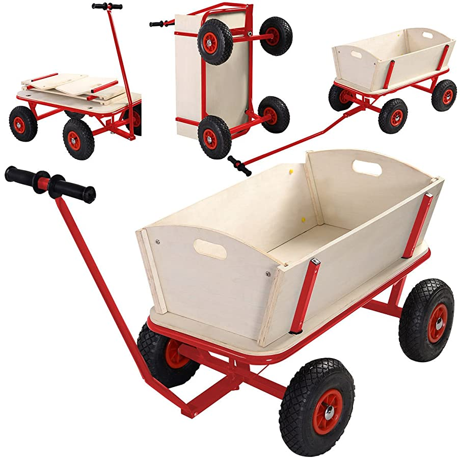 Children Kids Toys Cart Wagon Stroller Outdoor Garden Tools W/ Wood Railing New .#GH45843 3468-T34562FD483109