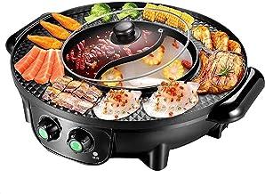 CDPC Barbecue électrique coréen pour la Maison, Barbecue Multifonction sans fumée, Machine à Barbecue antiadhésive intégré...