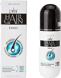 LIVON HAIR GAIN TONIC, PACK OF TWO BOTTLES