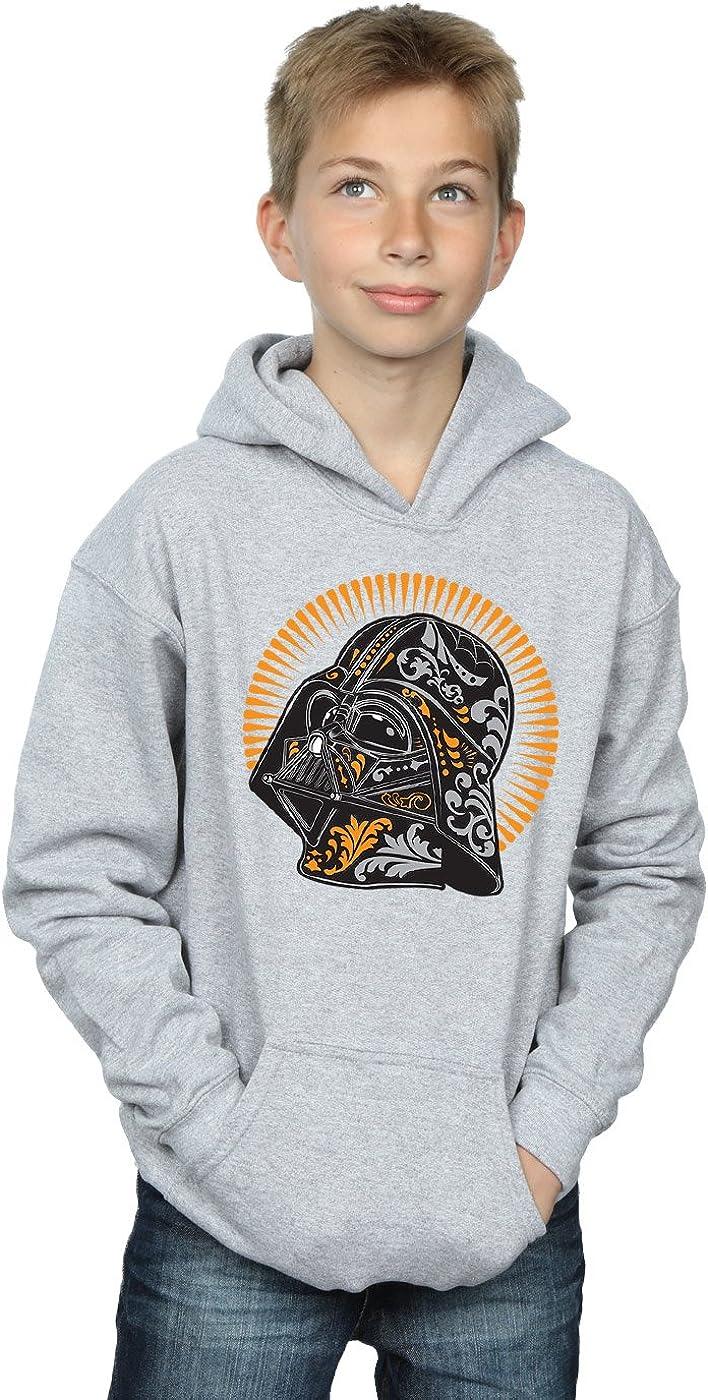 Star Wars Boys Darth Vader Dia De Los Muertos Hoodie 7-8 Years Sport Grey