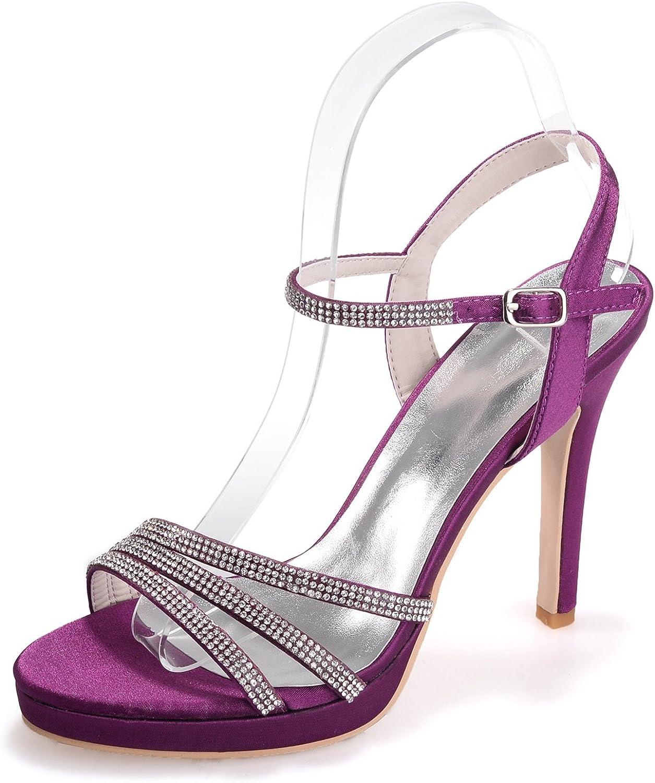 Elobaby Frauen Hochzeit Schuhe Strass 35-42 Größe Sandalen handgefertigt    11cm Heel Neue Schuhe   S5915  Sie sparen 35% - 70%