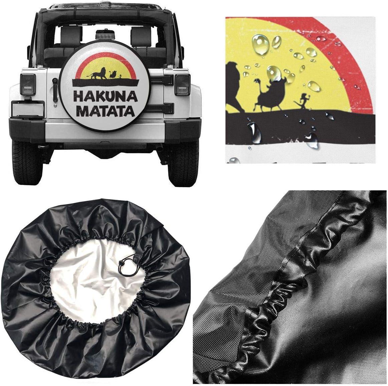 Hguftu5du Hakuna Matata Off-Road Vehicle Truck Rv Spare Tire Cover are Novel and Interesting