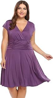 فستان Guteer للنساء بمقاس كبير مناسب للنادي فستان مثير برقبة على شكل حرف V لحفلات الكوكتيل المتأرجحة