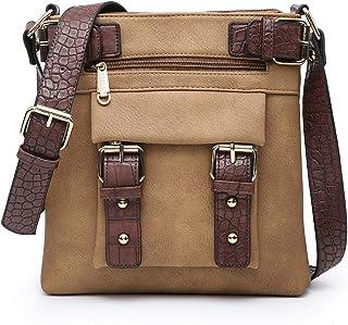 Dasein Women Lightweight Crossbody Bags Soft Vegan Leather Messenger Bag Shoulder Bag Travel Purse