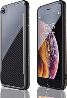 iPhone 7 Case | iPhone 8 Case | Shockproof | 12ft. Drop Tested | Carbon Fiber Case | Wireless Charging | Lightweight | Scratch Resistant | Compatible with Apple iPhone 7/8 - Black