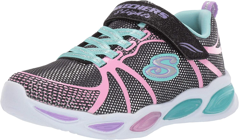 Skechers Unisex-Child Shimmer Beams-Sporty Glow Sneaker