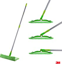 Scotch-Brite Microfiber Flat Mop with 1 extra refill for magic easy floor cleaning (Multi-purpose)