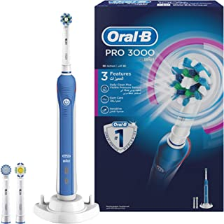 Oral B D 20.534.3 3000 Rechargeable Electric Toothbrush, Non-Bluetooth, White