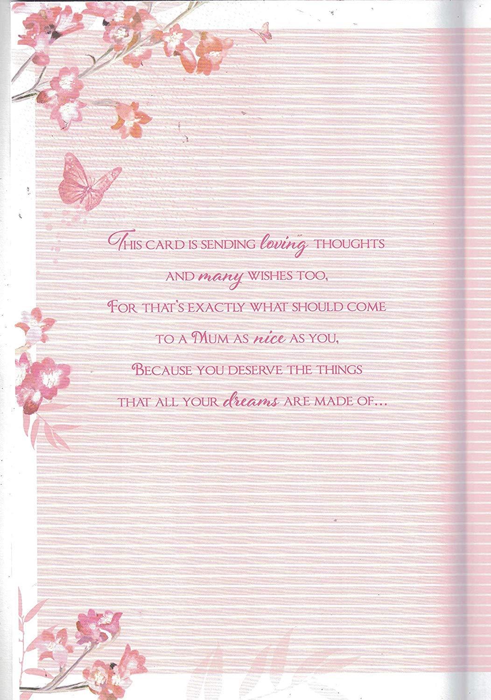 Mamá Cumpleaños Tarjeta extra grande con versos encantadora