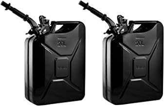 2 Wavian 3010 5.3 Gallon 20L Authentic CARB Fuel Jerry Cans w/Spout, Black