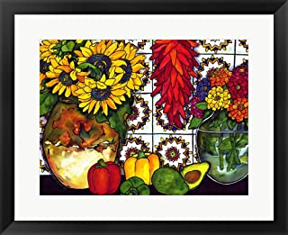 Southwest Sampler by Kate Larsson Framed Art Print Wall Picture, Black Frame, 25 x 21 inches