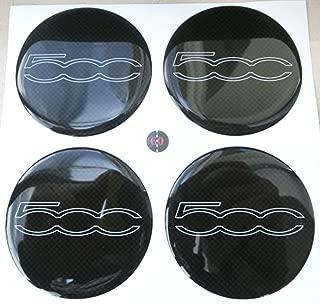SMART Tappi centro cerchi in lega Logo Badge Emblema Centro HUB Tappo Set 60mm Giallo