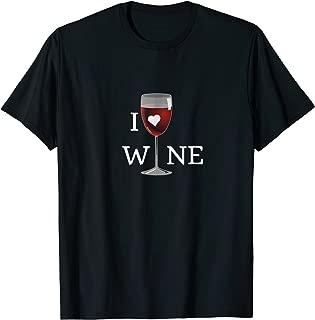 Love Glass of Wine T-Shirt Men Women Gourmet Trend Edition
