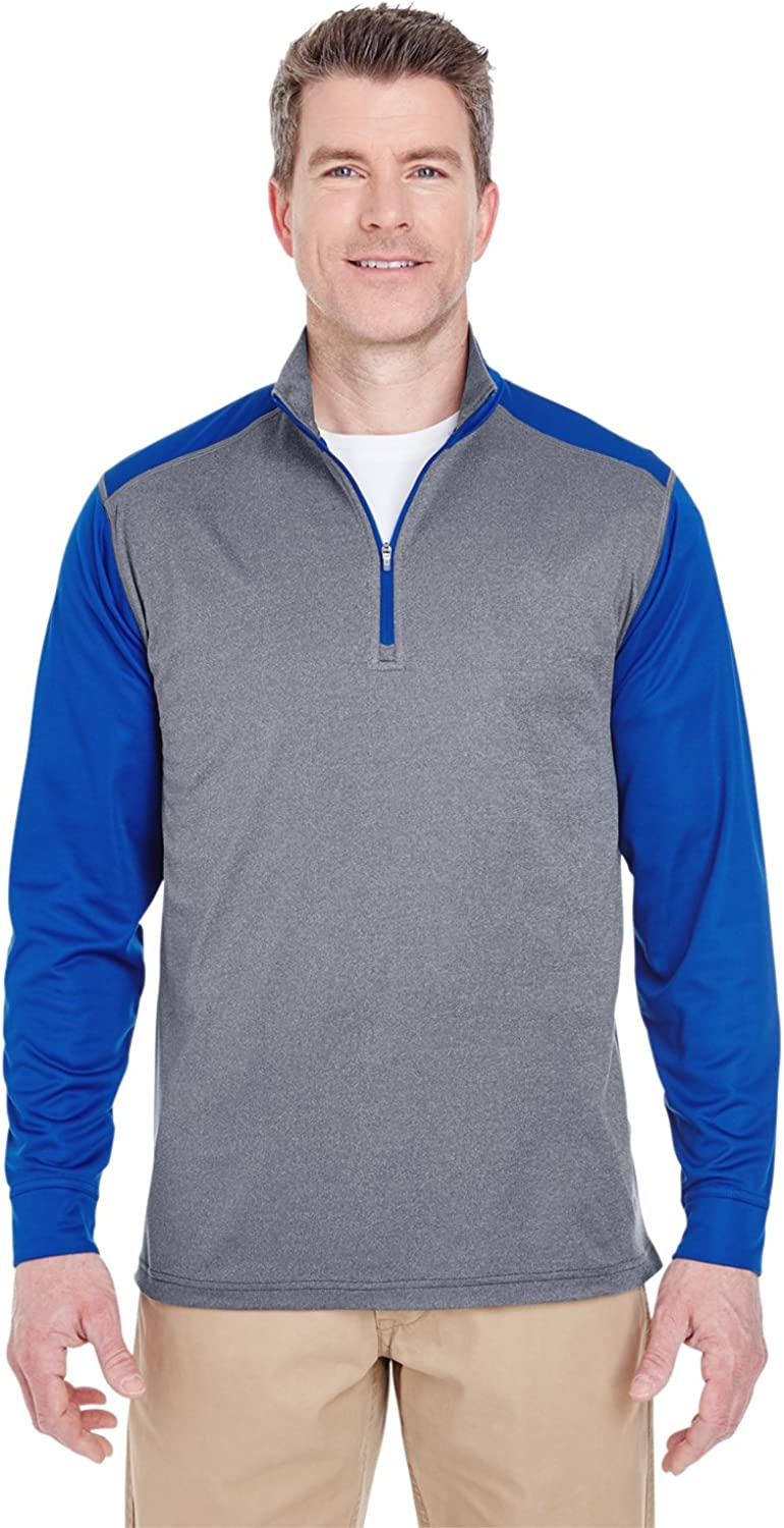 Ultraclub Adult Cool & Dry 1/4-Zip Pullover