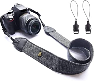 WANBY Weave Camera Canvas Neck Shoulder Camera Strap with Quick Release Buckles Vintage Print Soft Camera Straps for Women...