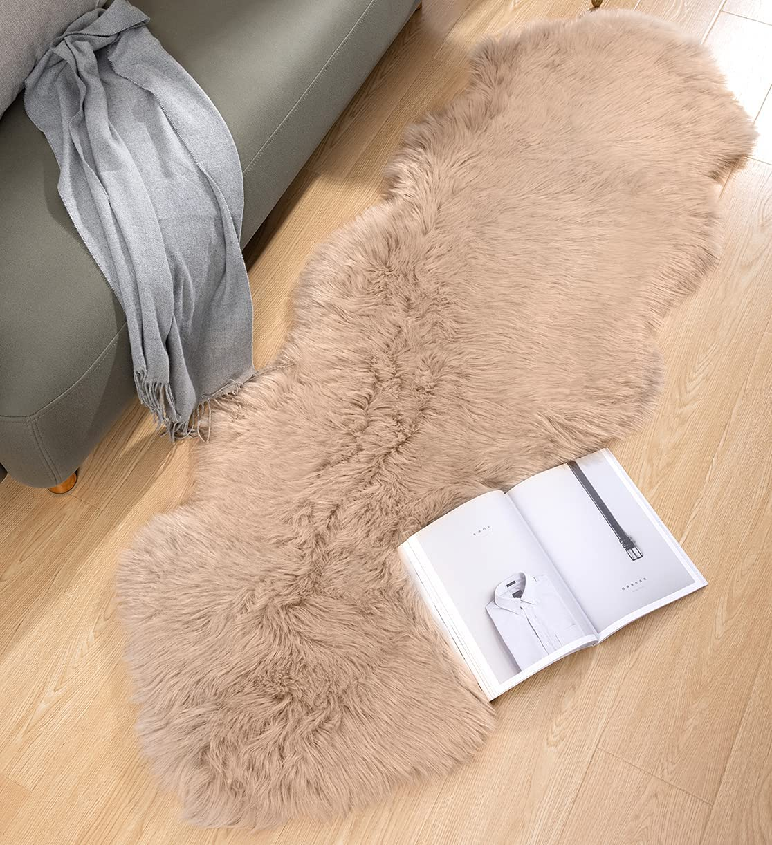 REDASW Ultra Thick and 激安セール Soft 2 x Fur Faux Area Sheepskin ft 6 Rug 記念日
