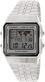 Casio A500WA-7 Vintage Classic Silver World Time Unisex Digital Watch