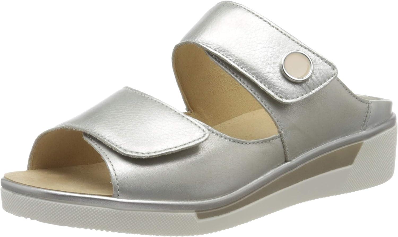 ara Women's Slide Flat Sandal, Red Weissgold 76, 11.5