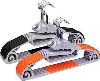ハンガー ネクタイハンガー20本組 洗濯ハンガー衣類ハンガー すべらない 多機能収納 hanger 超薄型 360度回転式 滑り止め 変形にくい 物干しハンガー 頑丈なハンガー 耐荷重 乾湿両用 クローゼットハンガー