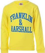 Franklin and Marshall Boy's Logo Crew Sweat 7-8 Yellow