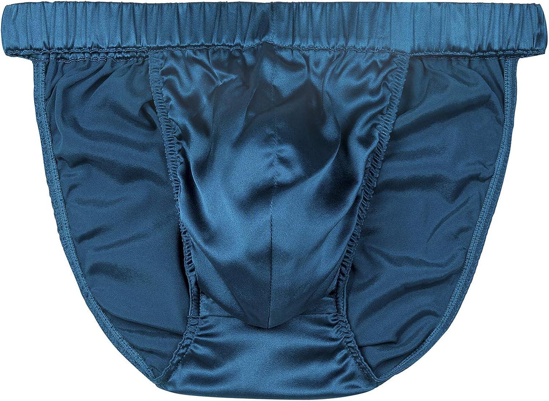 SilRiver Chicago Mall Men's Silk Challenge the lowest price Satin Bikini Underwe Tanga Pouch Briefs