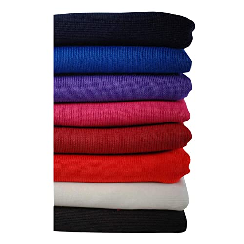 3f90ab9770e Neotrims Polyester Stretch Knit Rib Fabric to Trim Garments, Waistbands,  Cuffs and Welts or