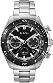 Bulova High Frequency Quartz Chronograph Silver Tone Mens Watch 98B298