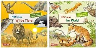 Carlsen Kinderbücher Set - Hör mal Pappbuch: Wilde Tiere  Im Wald - Kinderbuch mit Geräuschen