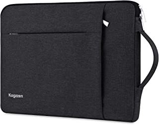 Kogzzen 13-13.5 Inch Laptop Sleeve with Handle Compatible with MacBook Air 13.3/ MacBook Pro 13/ Dell XPS 13/ Surface Book 2 13.5/ Surface Laptop/iPad Pro 12.9, Waterproof Shockproof Case Bag - Black