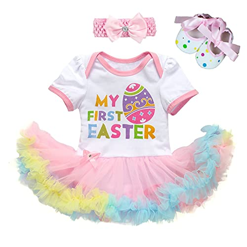 8550a014c759 Angeline Boutique Clothing Baby Girls Valentine Easter Day Easter Bodysuit  Onesie Tutu Set Aqua/Pink