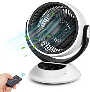 Ventilateur Silencieux, Bruit Min 25dB, Ventilateur de Table avec Télécommande, Écran Tactile LCD, Minuteur 1-7H, 3 Vitess...