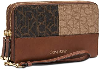 Logo Monmgrom Large Double Zip Around Wallet - Logo Combo/Gold