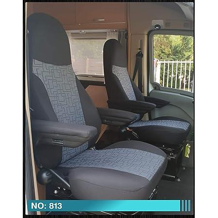 Bremer SitzbezÜge Sitzbezüge Kompatibel Mit Wohnmobil Fahrer Beifahrer Schwarz Grau 813 Auto