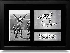 HWC Trading FR A4 Geoff Hurst & Martin Peters Engeland Geschenken Gedrukte Ondertekende Autograph Foto voor Fans en Suppor...