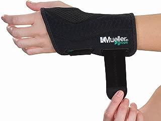 Mueller Green Fitted Wrist Brace, Black, Left Hand, Small/Medium