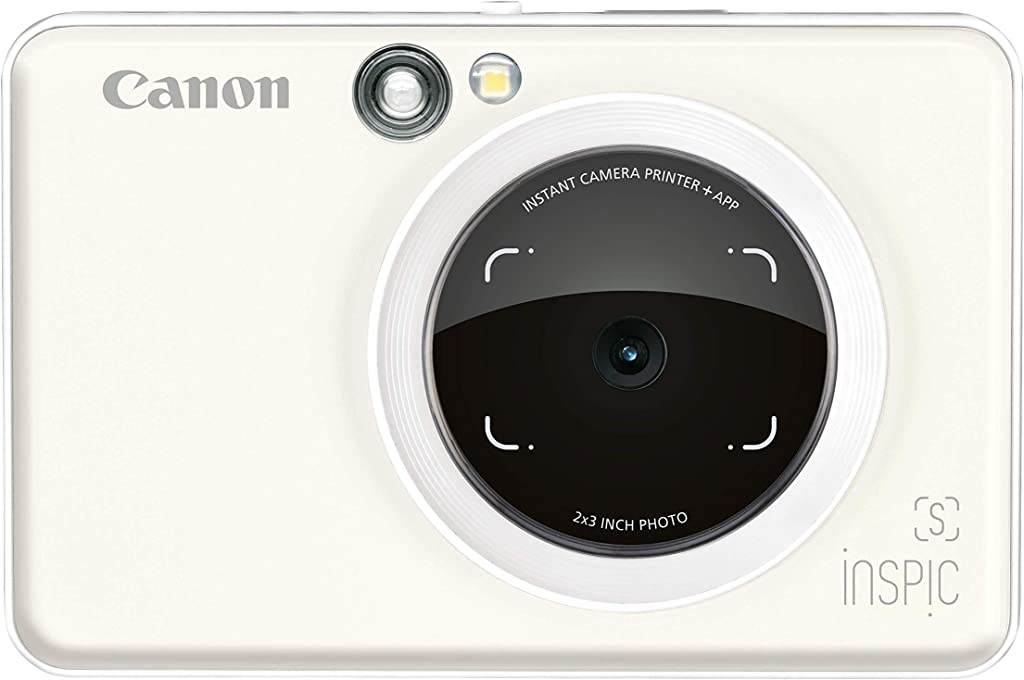 Canon iNSPiC S Instant Camera with Smartphone connectivity - Pearl White (SWHITE)
