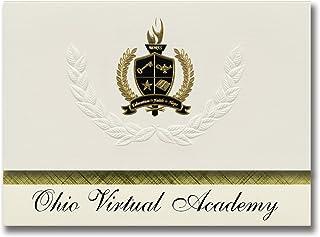 Signature Ankündigungen Ohio Virtual Academy (maumee, oh) Graduation Ankündigungen, Presidential Stil, Elite Paket 25 Stück mit Gold & Schwarz Metallic Folie Dichtung B078VF53JP  Klassischer Stil