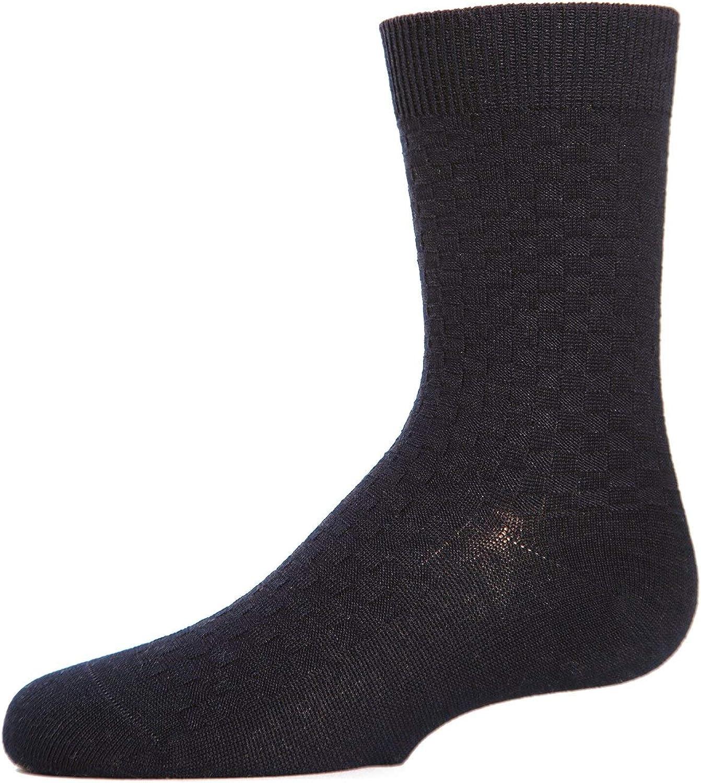 MeMoi Boys Basket Weave Crew Socks