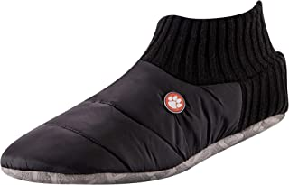 TCK Brands University Happy Camper Cozy Quilted Slipper Socks with Memory Foam Cushion and Sherpa Lining