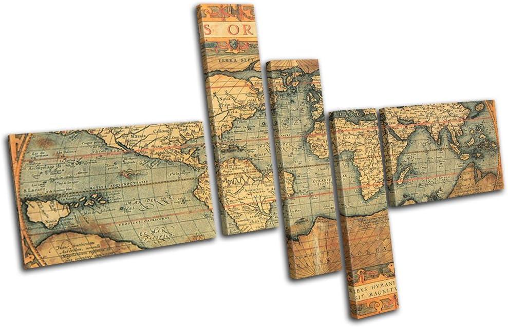 Bold Bloc Design - Old World 人気 Atlas Maps Ca 180x120cm Flags バーゲンセール MULTI