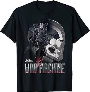 Infinity War War Machine Head Profile Graphic T-Shirt