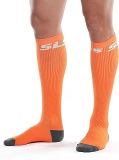 SLS3 True Graduated Allrounder Compression, Performance, Training, Race, Recovery Socks (1 Pair) - Helps Shin Splints Black