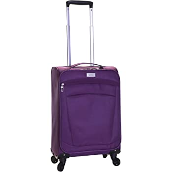 Karabar Cabin Hand Carry-on Luggage Bag Suitcase Ultra Super Lightweight 55 cm 1.8 kg 34 litres 4 Spinner Wheels, Marbella Purple