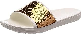 Crocs Sloane, Women's Fashion Sandals, Multicolour (Bronze/Oyster 81F), 36/37 EU