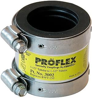 Fernco 3002-215 1-1/2-Inch Proflex Cast Iron PVC Flexible Coupling