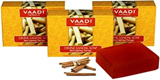 Sandalwood Soap (Sandalwood Oil Bar Soap) With Saffron And Turmeric Extracts Handmade Herbal Soap (Aromatherapy) With 100%...