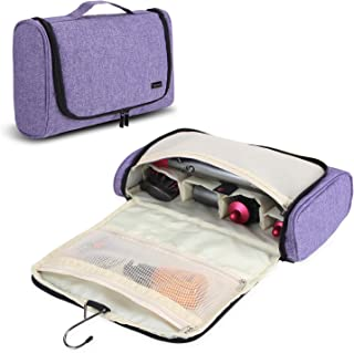 Teamoy Travel Storage Bag Compatible with Dyson Airwrap Styler, Portable Travel Organizer for Airwrap Styler and Attachments, Purple