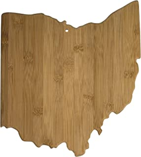 Totally Bamboo Ohio State Shaped Bamboo Serving & Cutting Board