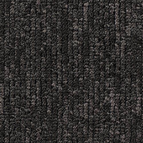 Teppichboden Auslegware | Büro Schlinge gemustert | 400 und 500 cm Breite | anthrazit schwarz | Meterware, verschiedene Größen | Größe: 3 x 5 m
