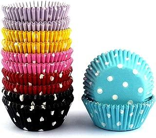 Mkustar 300 Count Mini Cupcake Liners Polka Dots Baking Paper Cups